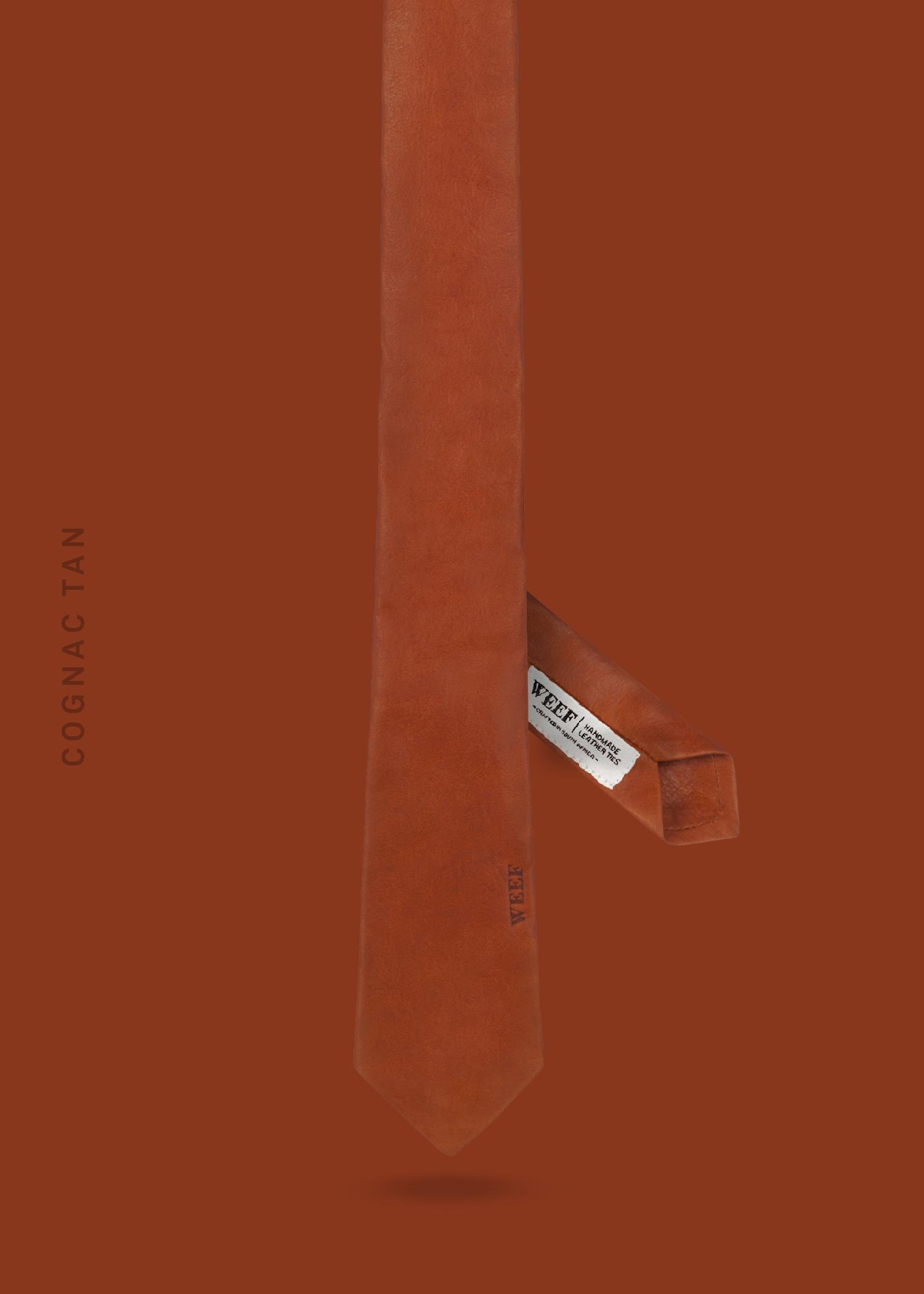 WEEF-Skinny-Tie-Cognac-Tan-v2